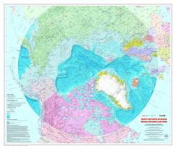 Map of the North Circumpolar Region [Bilingual]