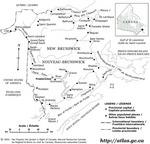 Nouveau-Brunswick avec toponymes