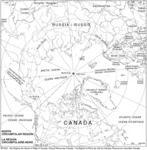 Région circumpolaire-Nord avec toponymes