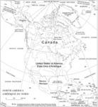 Amérique du Nord avec toponymes