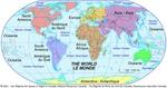 Le monde, continents